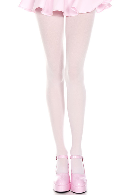 Shop these baby pink tights that feature stretch opaque nylon material