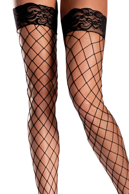 Shop these fishnet thigh highs