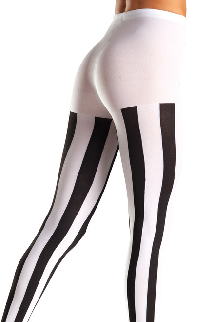 shop these Beetlejuice tights