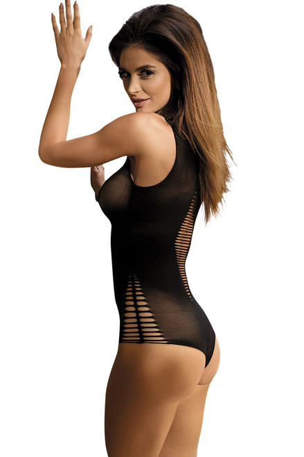 Shop women's sexy one piece body stocking open front lingerie.