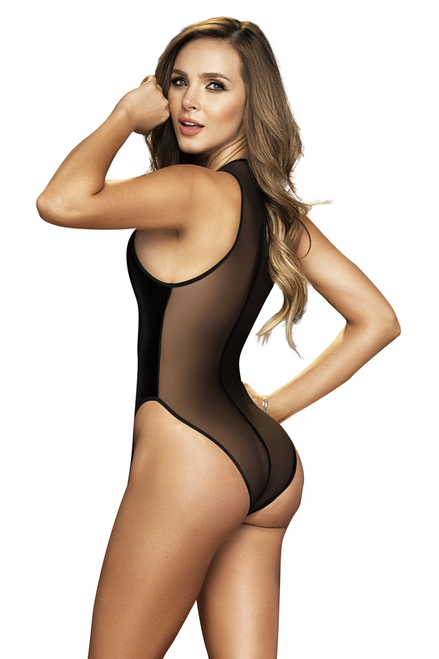 Shop this women's sexy black velvet holiday romper teddy featuring a black velvet deep v neckline with black mesh back