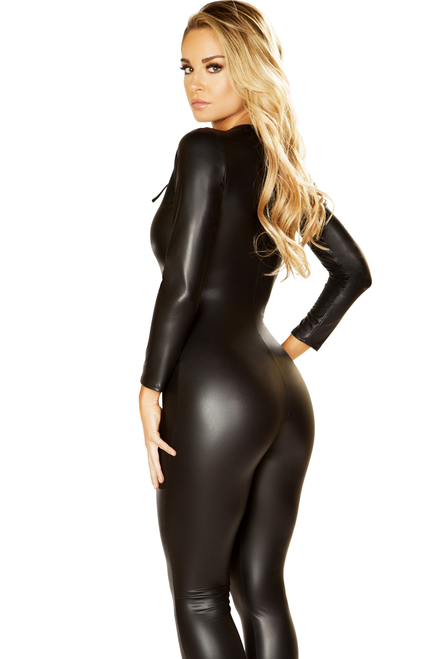 Shop this women's  Multi Purpose Black Catsuit so you can make your own costume!