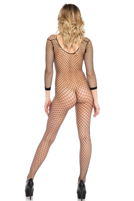 Shop this long sleeve body stocking lingerie with footed stockings