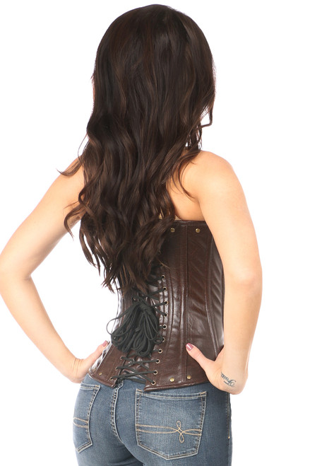 shop this steampunk underbust leather corset