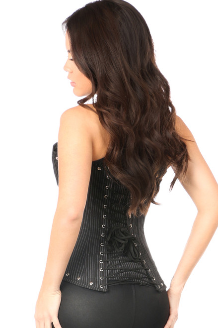 Shop this pinstripe steel boned underbust corset