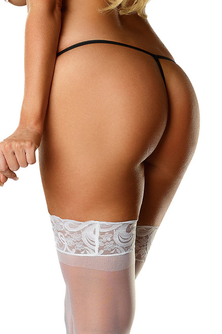 Shop this crotchless g string panty with a fun and flirty tuxedo pattern
