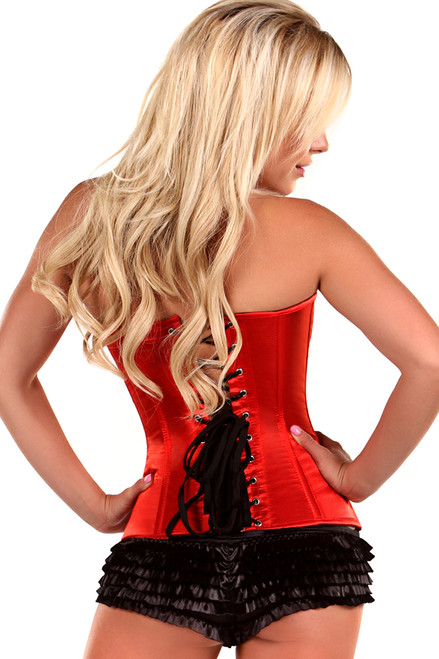 Shop this red corset with steel boning and sweetheart neckline featuring the best corsets you can buy online