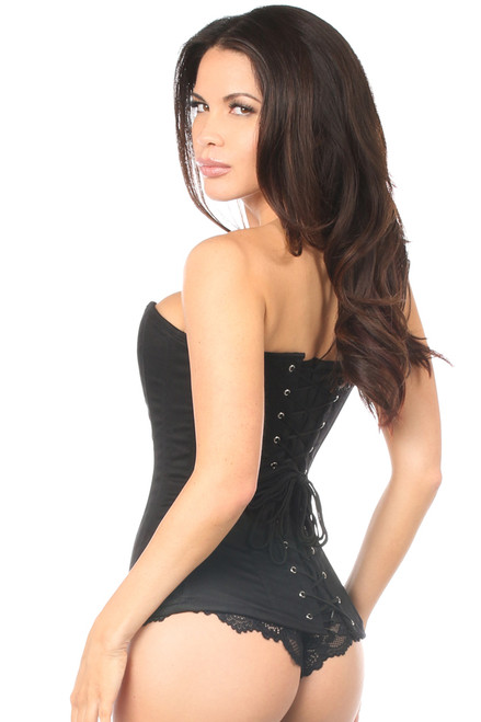 Shop this black corset lingerie that features a cotton corset black with lace up back