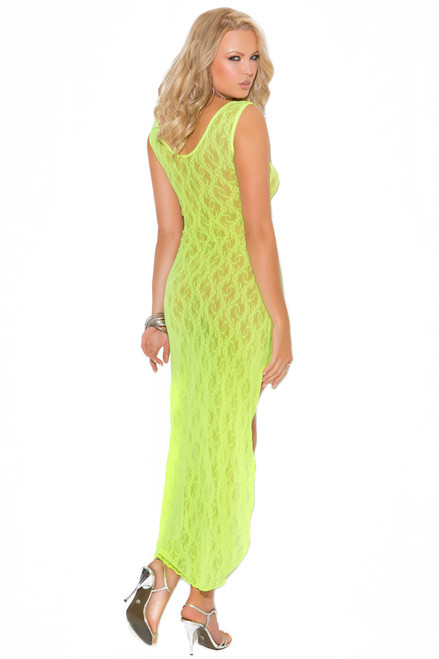 shop this chartreuse lingerie night gown
