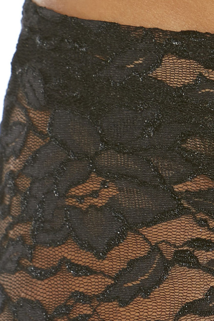 Shop this black lace mini skirt for dancewear bottoms
