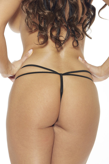 Shop this metal o ring crotchless panty