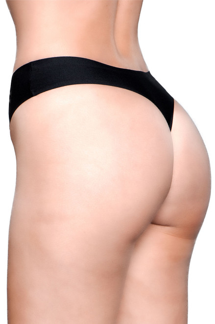 Shop this black microfiber thong panty
