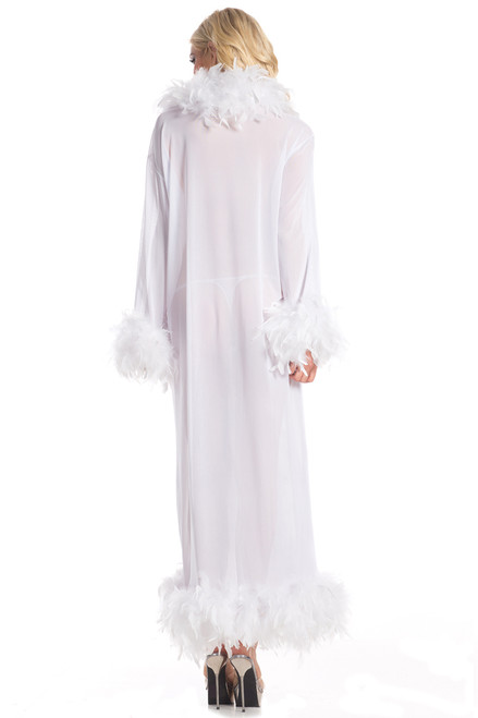 Shop this white sheer robe with floor length design