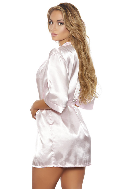 Shop this sexy robe with baby pink satin
