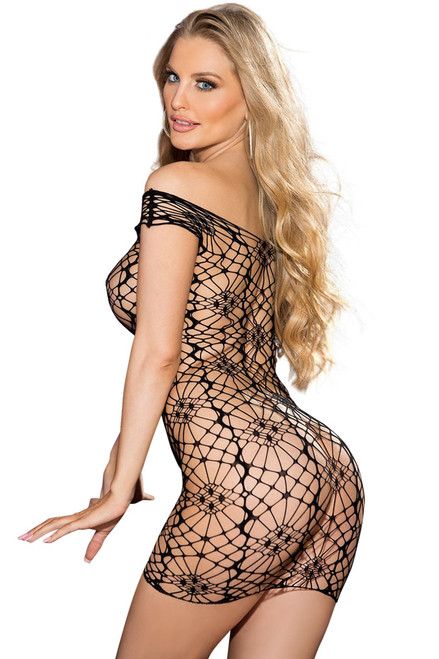 Black bodystocking lingerie Shirley of Hollywood