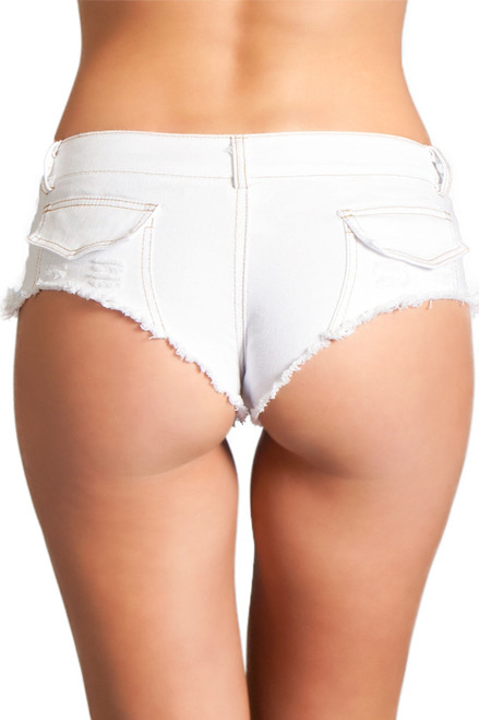 Shop these white dancewear bottoms with stretch denim material