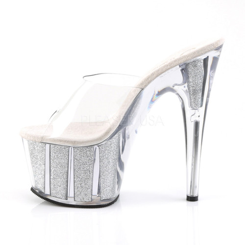 """Pleaser Shoes - Women's sexy clear 7 inch stiletto exotic dancer pumps featuring 2.8"""" platform."""
