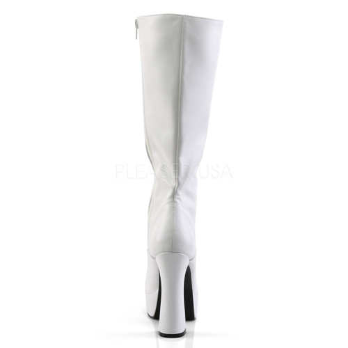 "White lace-up platform heel boots - 5"" heel with 1.5"" platform"