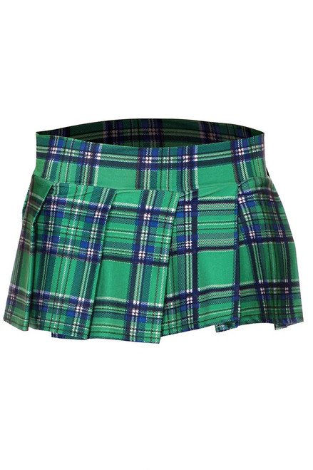 Shop this women's green plaid mini skirt for your school girl lingerie