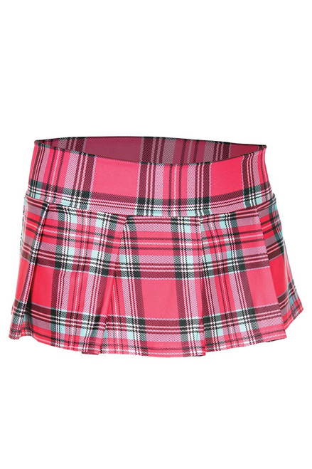 Shop this women's hot pink plaid mini naughty schoolgirl costume skirt