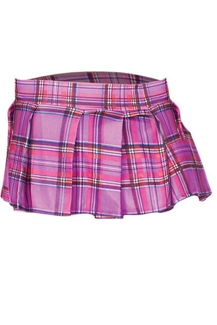 Shop this women's light purple plaid mini skirt for your school girl lingerie