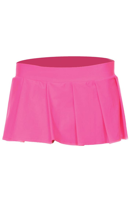 Shop this women's adult school girl outfit featuring a hot pink pleated mini skirt