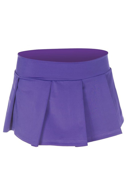 Women's purple naughty school girl skirt.