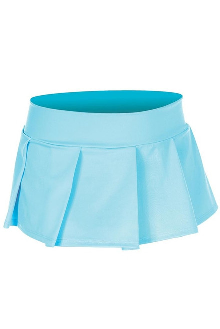 Women's turquoise naughty school girl skirt.
