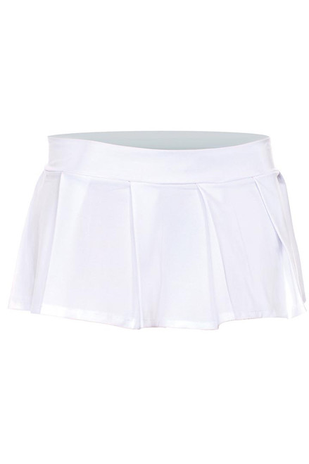 Shop this women's naughty schoolgirl costume featuring this white pleated mini skirt