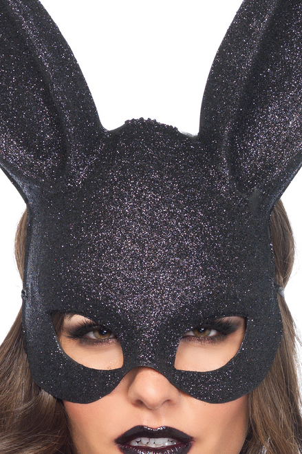 Shop sexy accessories for your sexy bunny costume featuring this Fetish Bunny Glitter Rabbit Mask