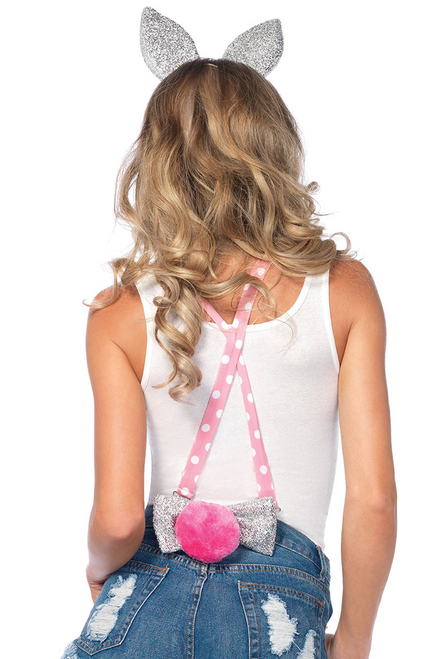 Shop this pink sparkle bunny accessory kit for your sexy Halloween costume accessory