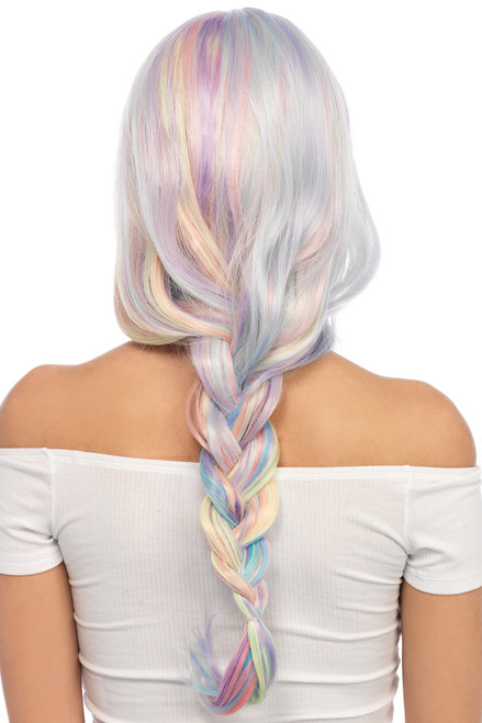 pastel long wavy wig, pastel wig with long curls