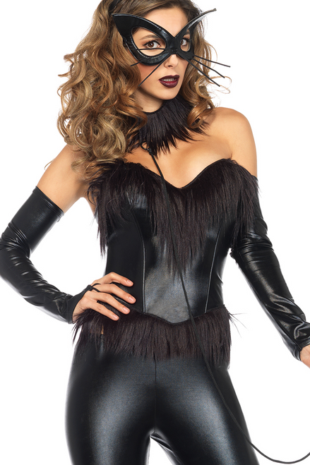 Shop this women's black bondage bunny costume featuring a Halloween bunny costume with dominatrix look