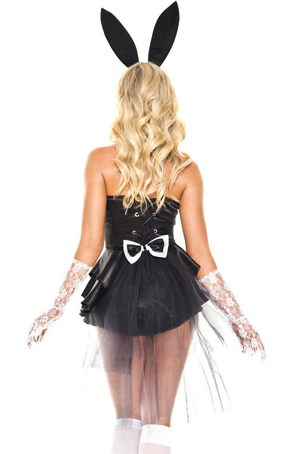 Shop this women's sexy bunny costume featuring a tuxedo bunny with tulle back