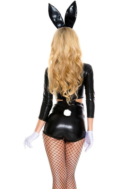 Shop this women's tuxedo bunny costume featuring a wet look bunny costume