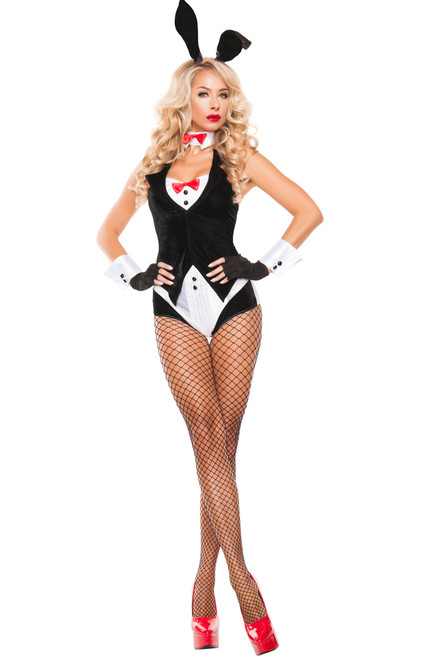 This flirtatious Cottontail Centerfold Bunny Costume hugs your wily curves in all the right places. Hop to it and shop online today!