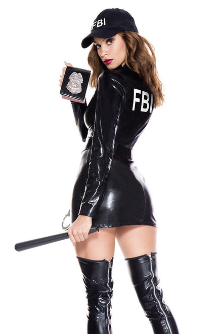 Shop this women's sexy FBI costume with FBI badge
