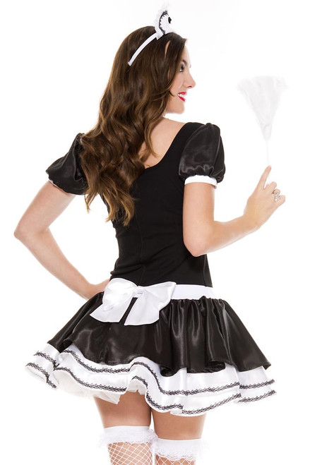 Shop this women's sexy French maid costume with attached apron
