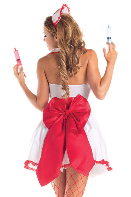 Shop this naughty nurse outfit with large back bow