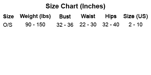 J-Valentine Size Chart by Discount Stripper