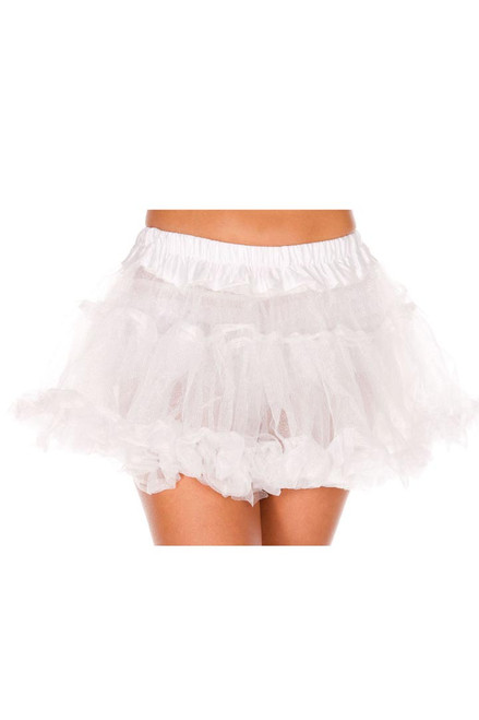 Shop this women's sexy white mid length petticoat for your sexy Halloween costume accessory