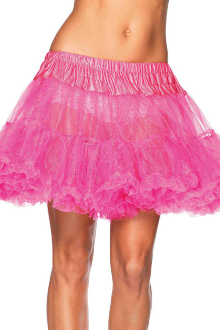 Shop this women's neon pink tulle petticoat with layered tulle