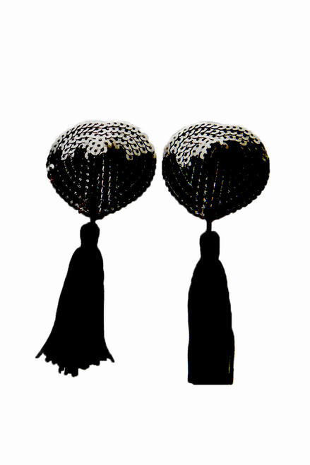 Shop these pasties burlesque that feature black sequin tassel pasties with long black tassels
