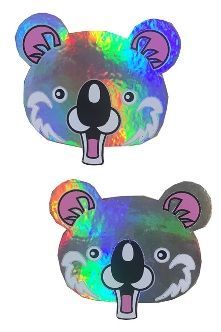 Shop these holographic koala fun nipple pasties