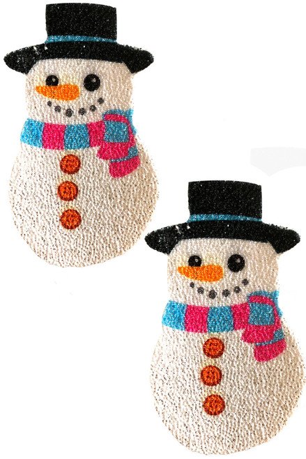 Shop these glitter snowman nipple pasties