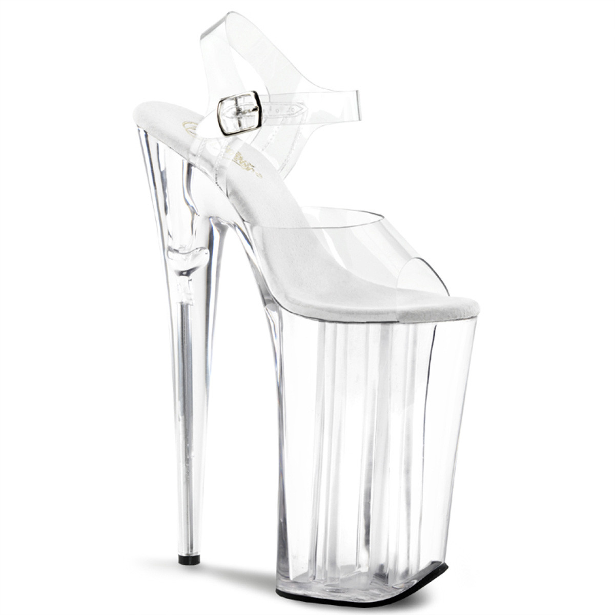 """Clear 10"""" Ankle Strap Heels*"""