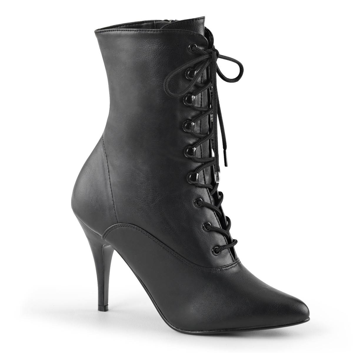 """4"""" Heel Lace-Up Ankle Boot - Black*"""
