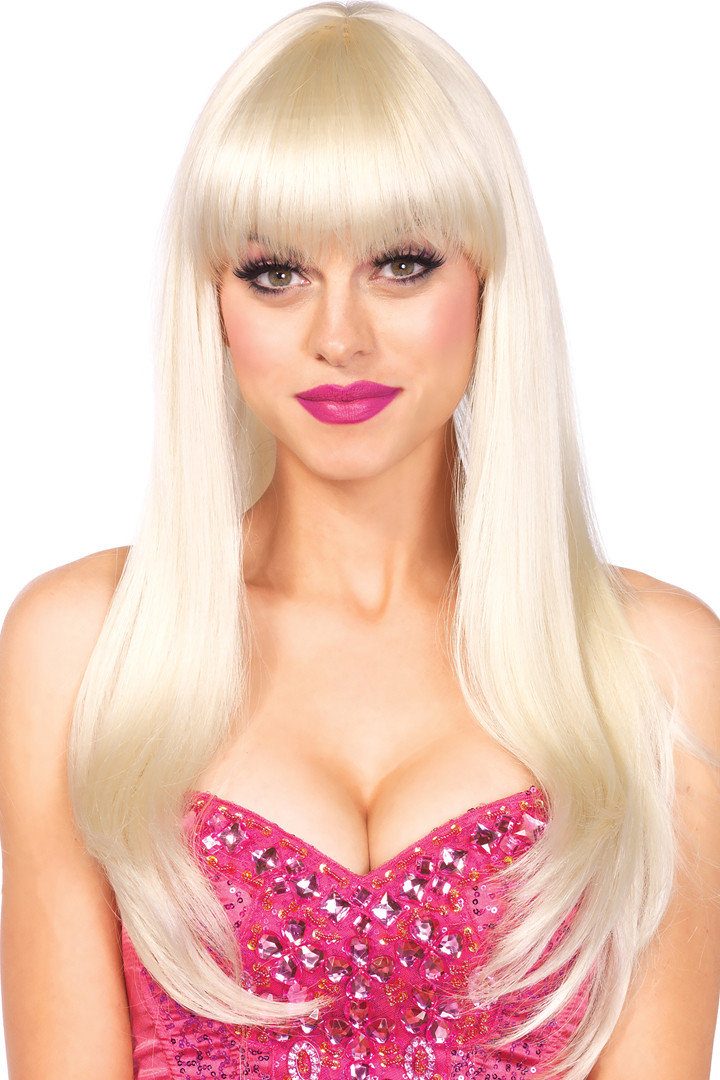 Extra Long Blonde Wig with Bangs