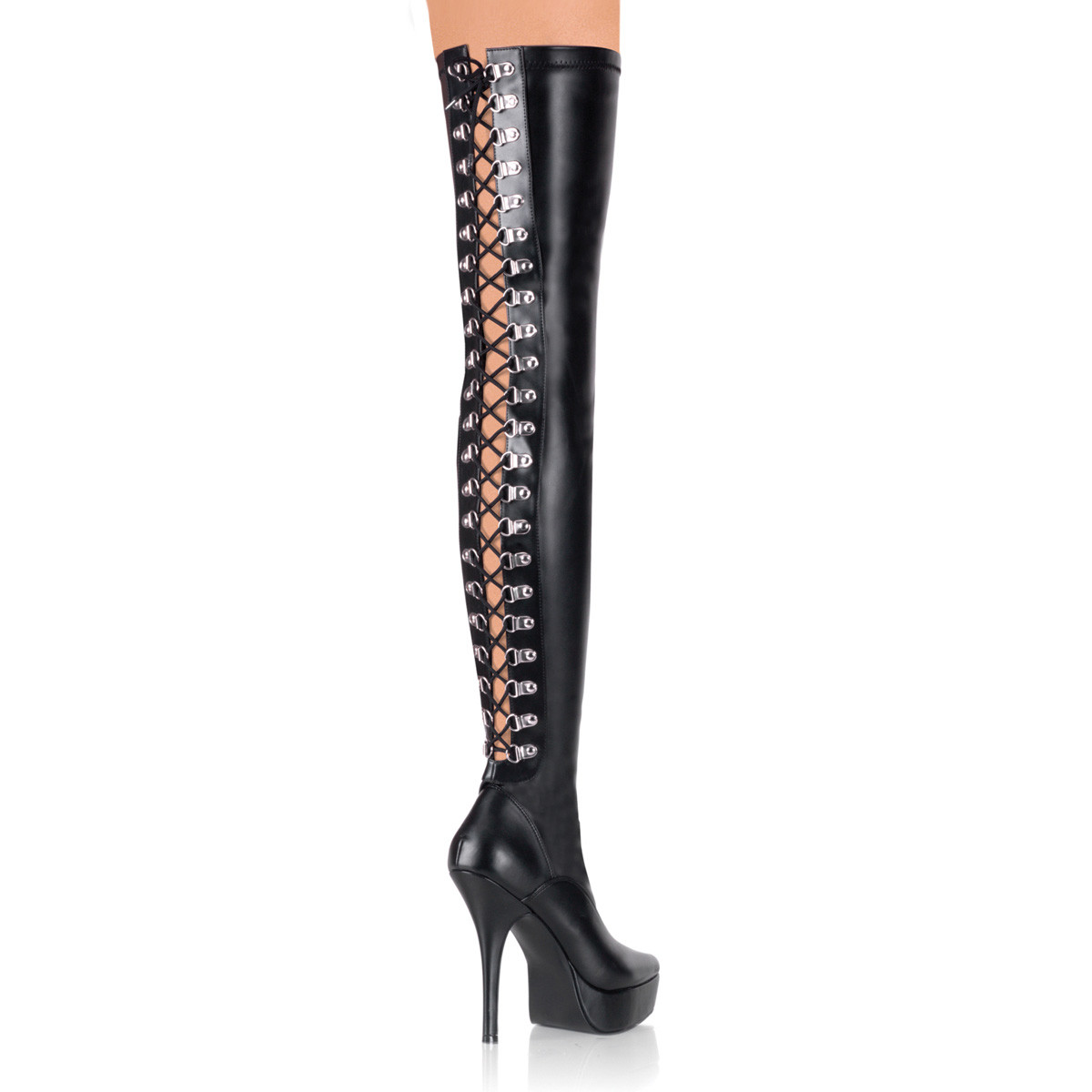 "5 1/4"" Back Lace-Up Stretch Platform Thigh Boot*"
