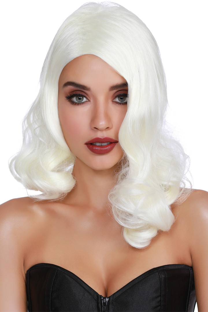 Old Hollywood White Glamour Wig